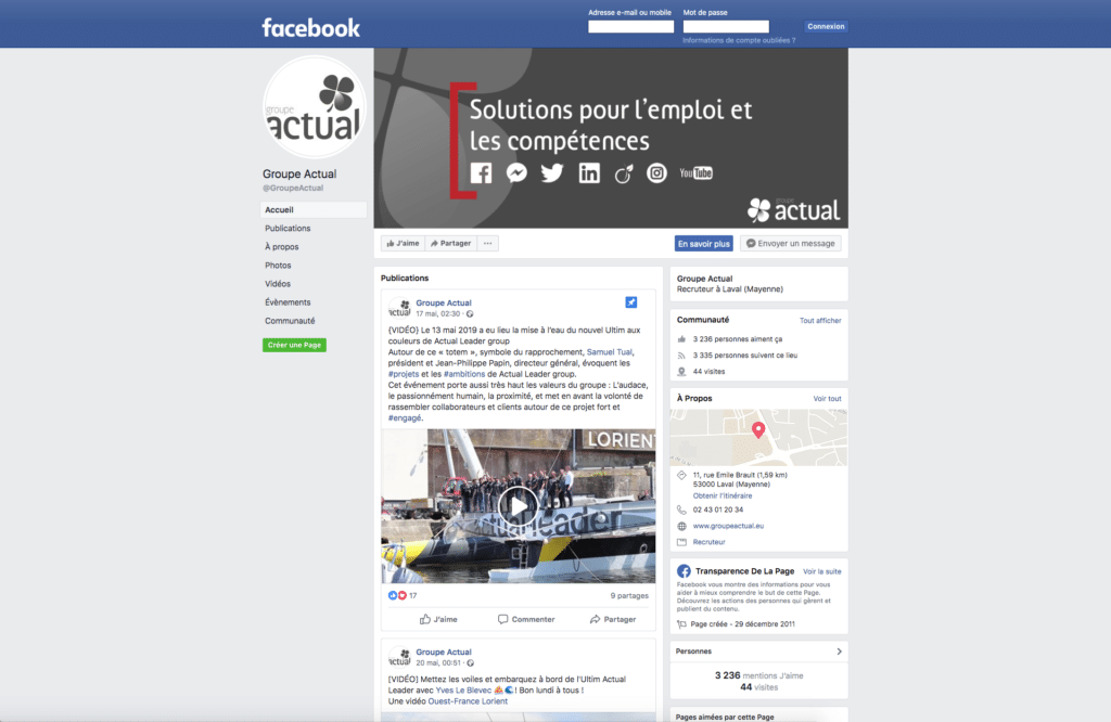 Social média - Groupe Actual 1