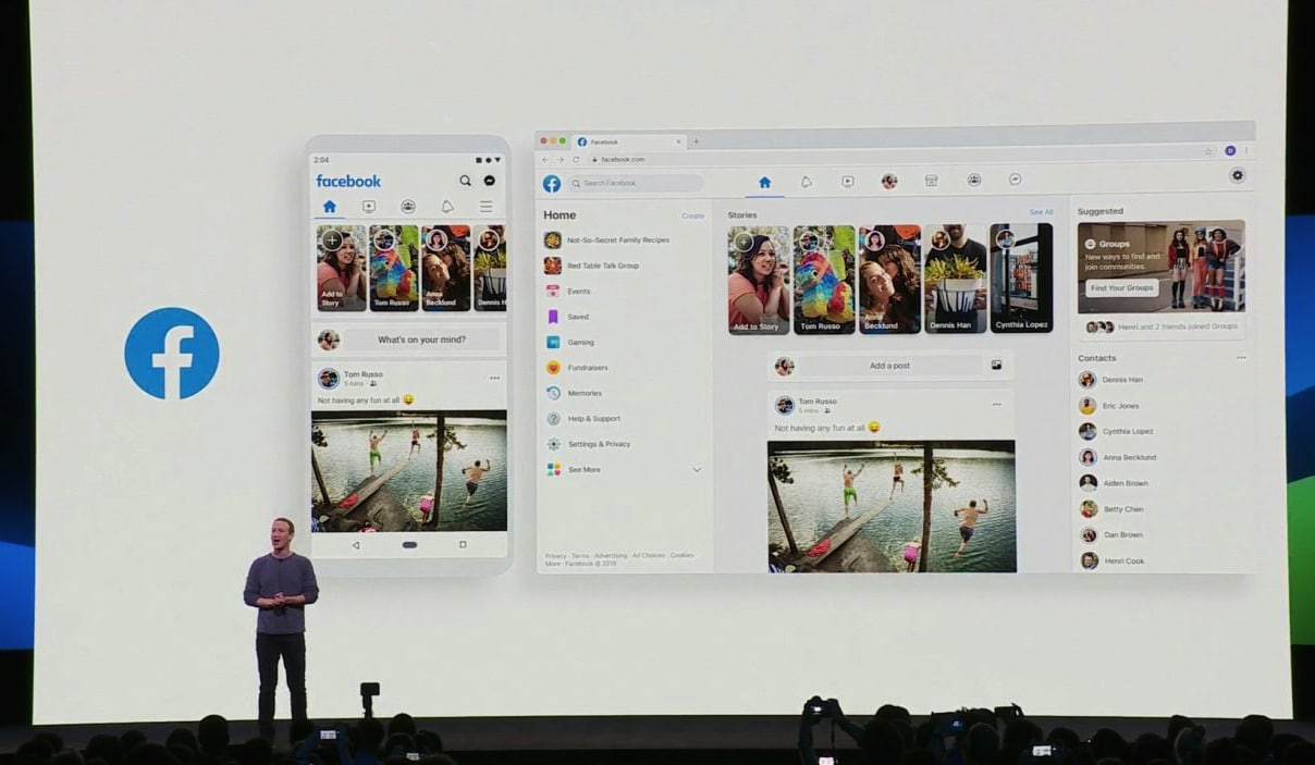 Nouvelle interface Facebook