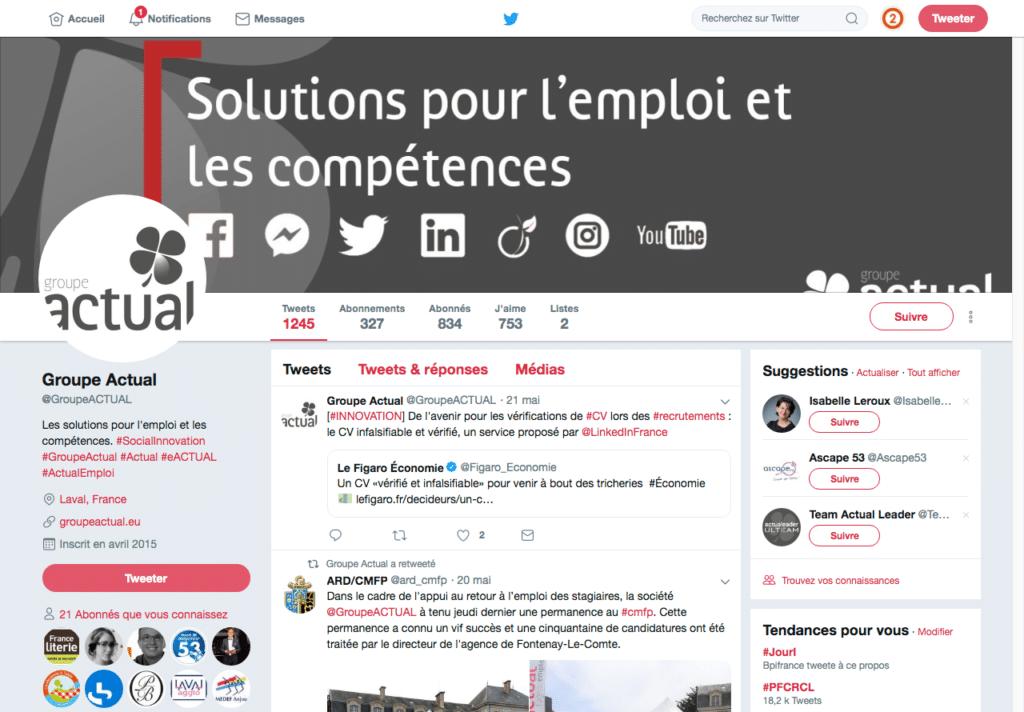 Social média - Groupe Actual 3