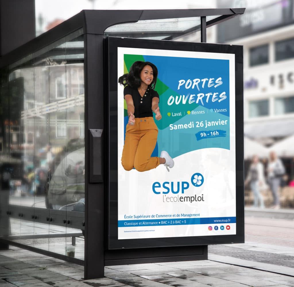Campagne de communication - Groupe ESUP (école de commerce) 1