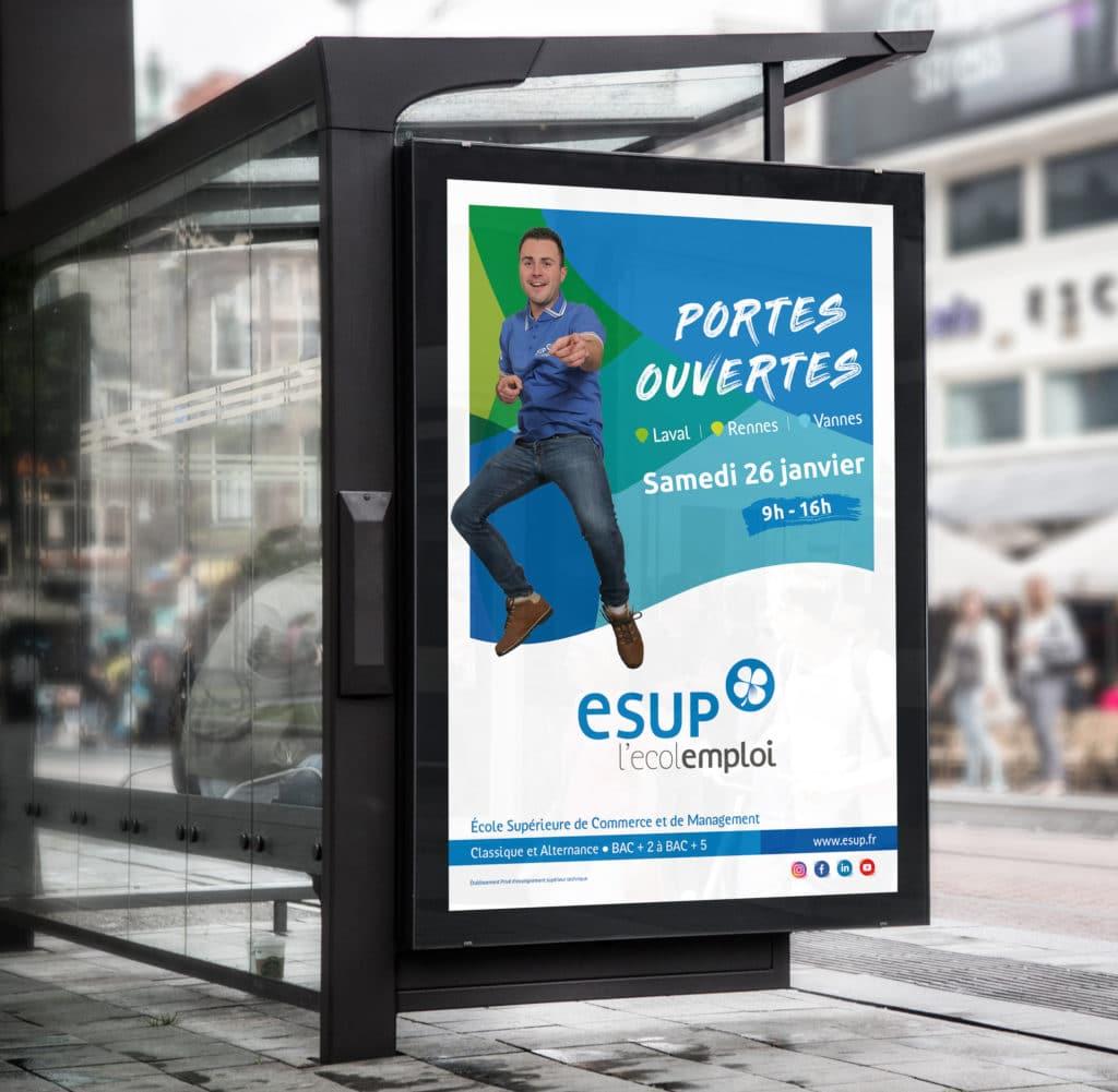 Campagne de communication - Groupe ESUP (école de commerce) 2