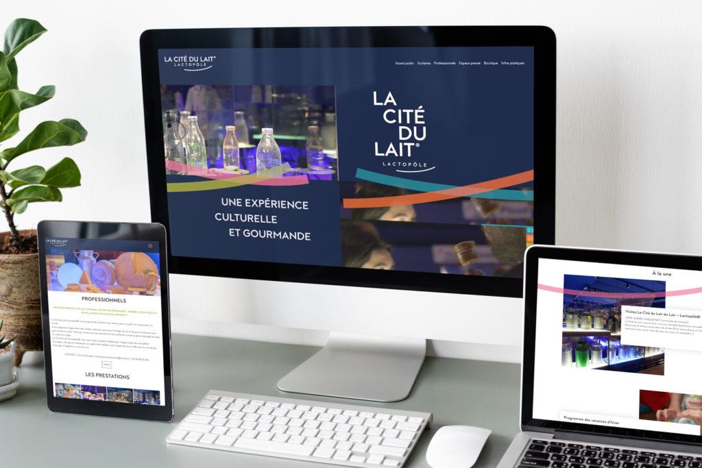 Site web d'information La Cité du Lait 1