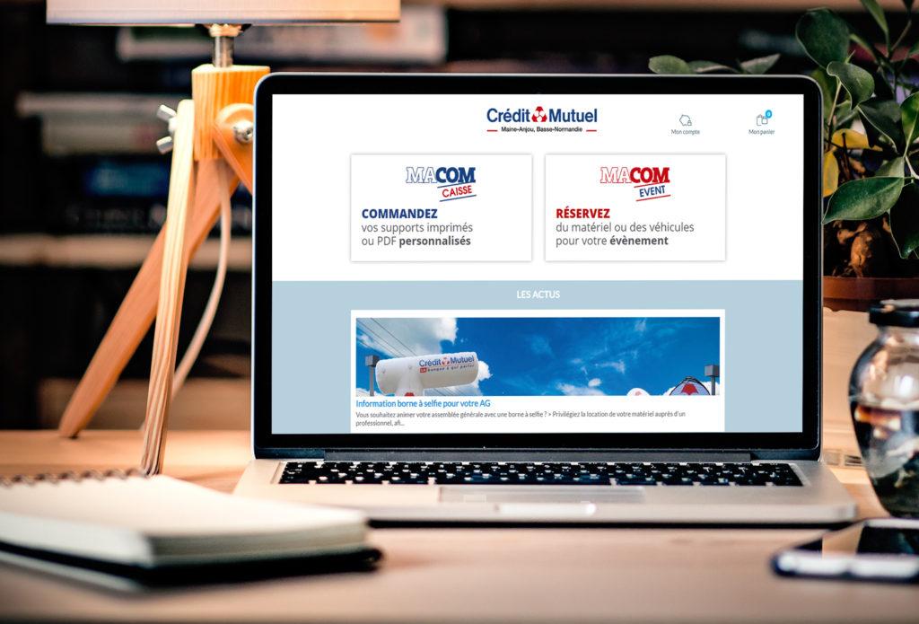 Plateforme web to print Macom 1