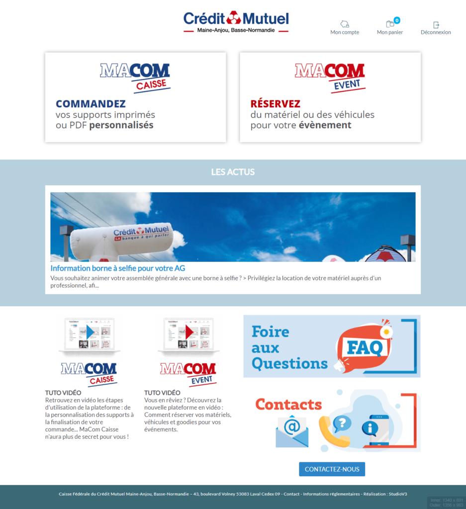 Plateforme web to print Macom 2