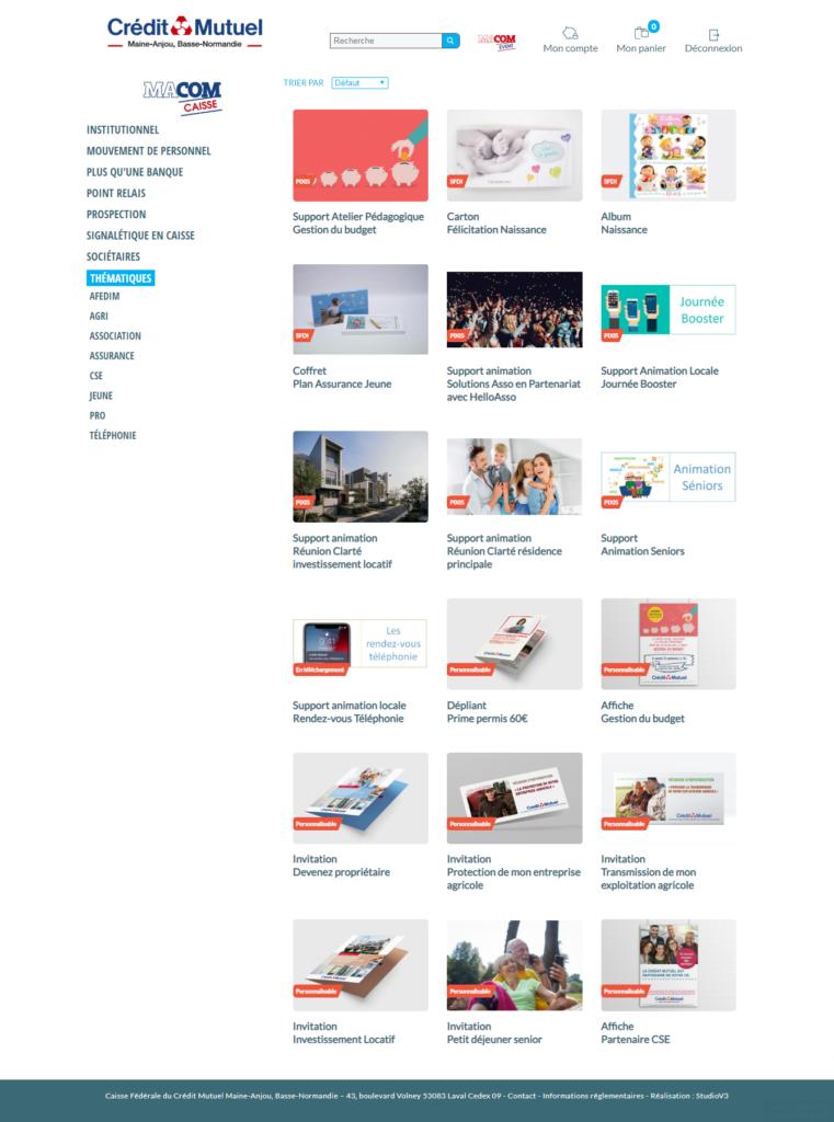 Plateforme web to print Macom 3