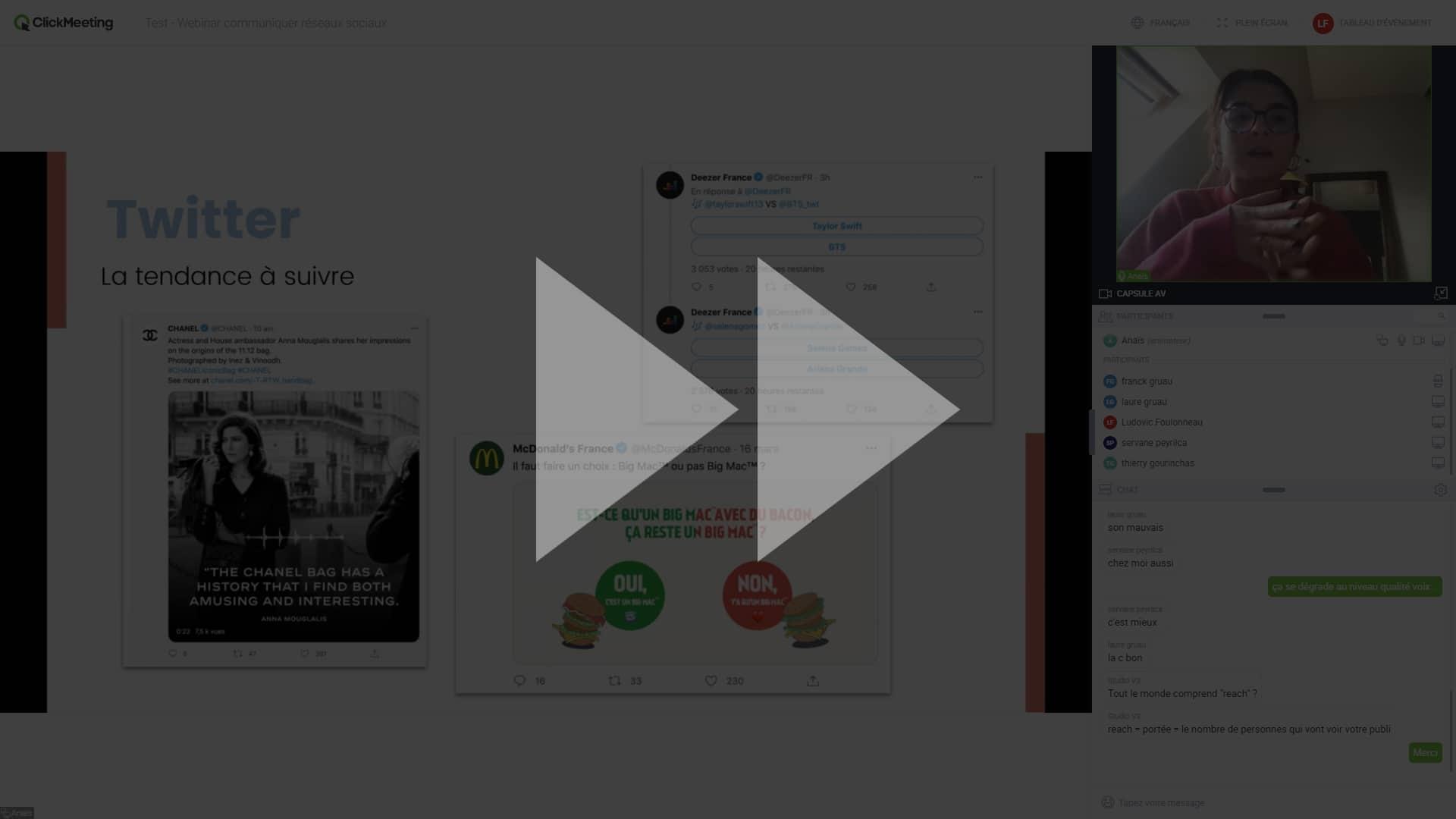 [REPLAY WEBINAR] Comment bien communiquer sur ses réseaux sociaux pendant le confinement ? 1